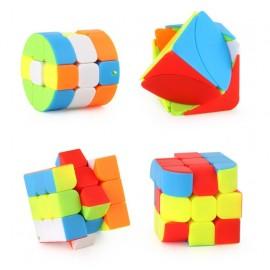 Cubos Rubik Paquete 6 Llaveros Colored