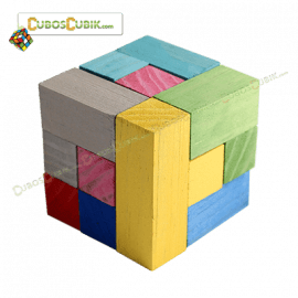 Cubo Soma De Madera Rompecabezas 3D