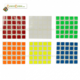 Set de Stickers 5x5 Moyu Colores Fosfo