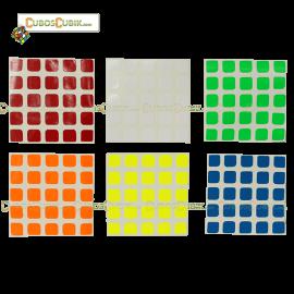Set Stickers 5x5 Moyu Colores Fosfo