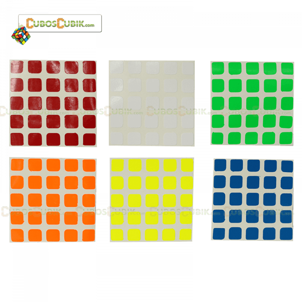 Set Stickers 5x5 Moyu Colores Fosfo