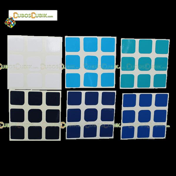 Set de Stickers 3x3 Escala de Azules