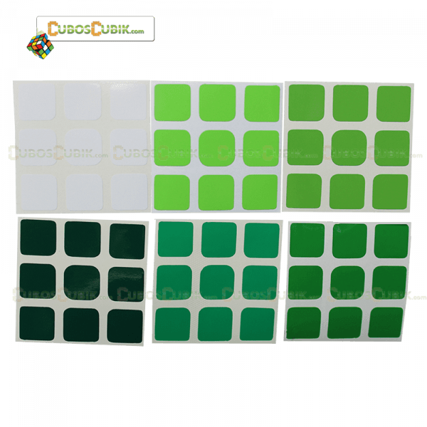 Set de Stickers 3x3  3x3 Escala de Verde