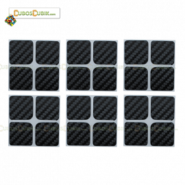 Set de Stickers Fibra de Carbono 2x2 Negro