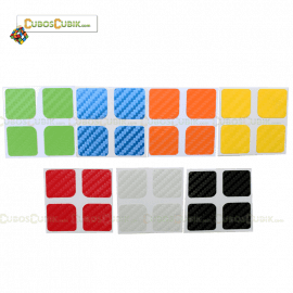 SET de Stickers Fibra de Carbono 2x2  7 Colores