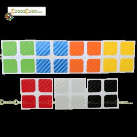 SET de Stickers Fibra de Carbono 2x2  7 Colores