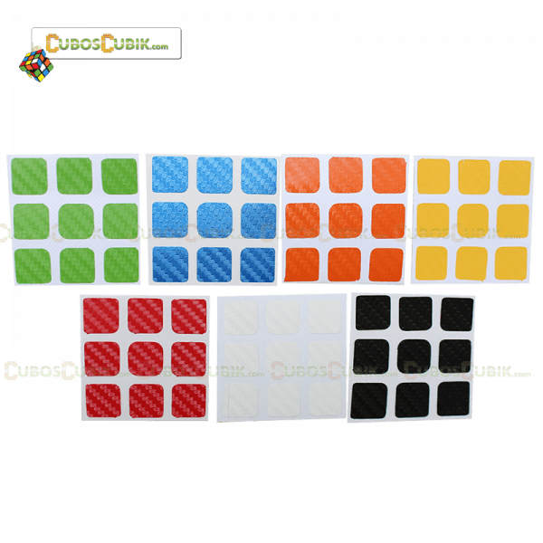 SET de Stickers Fibra de Carbono 3x3 7 Colores