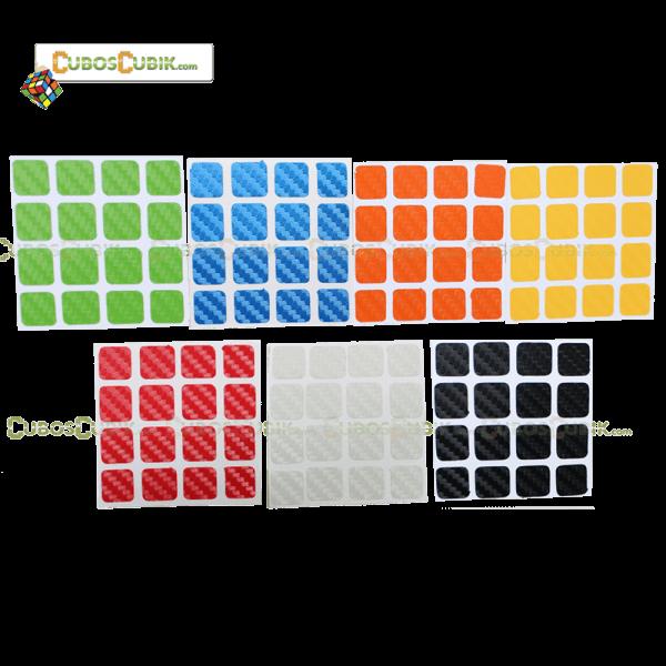 Set de Stickers Fibra de Carbono 4x4 7 Colores