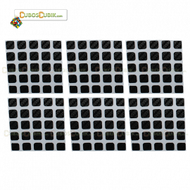 Set de Stickers Fibra de Carbono 5x5 Negro