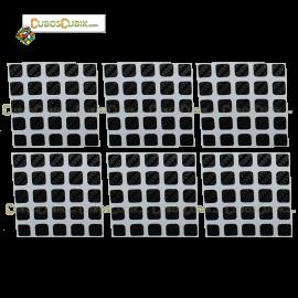 Set de Stickers Fibra de Carbono 5x5 Negro
