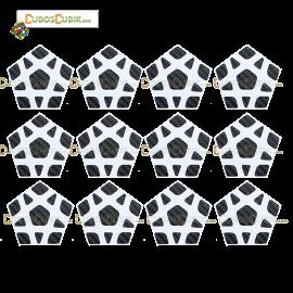 Set de Stickers Fibra de Carbono Megaminx Negro