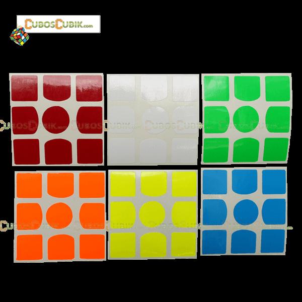 Set de Stickers 3x3 Gan Full Colores Fosfo