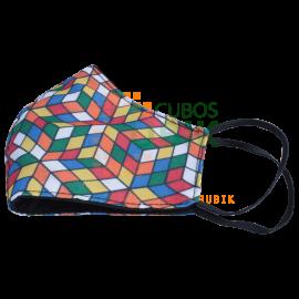 Cubrebocas Cubo Rubik Diseño