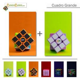 Cubos Rubik Paquete 2 Cuadros Grandes