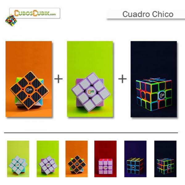 Cubos Rubik Paquete 3 Cuadros Chicos