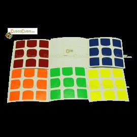 Set de Stickers 3x3 The Valk3 Colores Fosfo