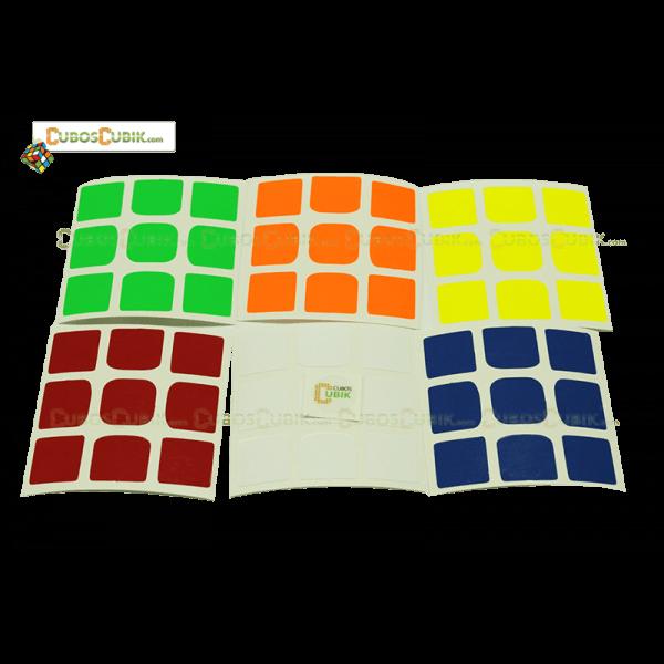 Set de Stickers 3x3 Weilong GTS V2 Colores Fosfo