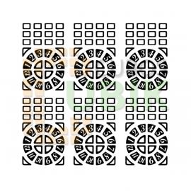 Set Stickers Time machine negros