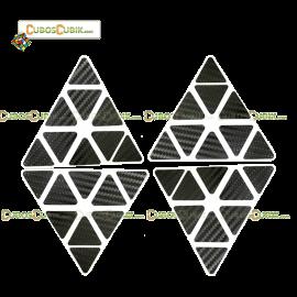 Set de Stickers Fibra de Carbono Pyraminx Negro