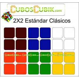 Set de Stickers 2x2 Medida Estándar Colores Clásicos