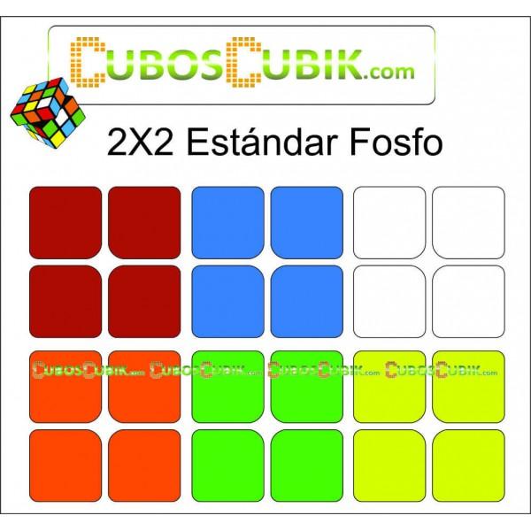 Set de Stickers 2x2 Medida Estándar Colores Fosfo