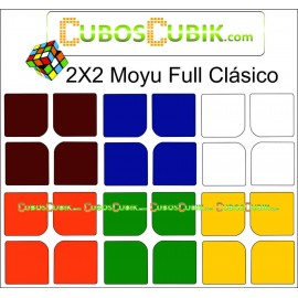 Set de Stickers 2x2  Full Colores Clásicos