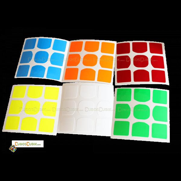 Set de Stickers 3x3 Weilong GTS Colores Fosfo