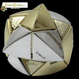 Cubos Rubik Calvin's Dino Satinado Plata y Dorado