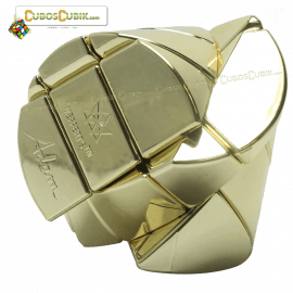 Cubos Rubik Mefferts Ghost Barrel Satinado Dorado