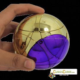 Cubos Rubik MegaMinx Ball Satinado Dorado Morado Calvins