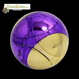 Cubos Rubik MegaMinx Ball Satinado Morado Dorado Calvins
