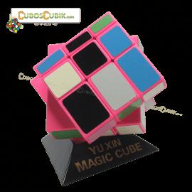 Cubos Rubik Yuxin Mirror Camaleon 3x3 Base Rosa