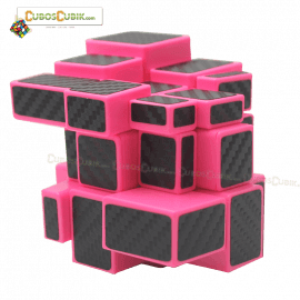 Cubos Rubik Yuxin Mirror Cobra 3x3 Base Rosa