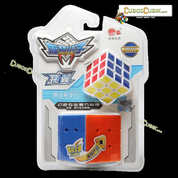 Cubos Rubik Cyclone Boys 3x3, 2 cubos en 1 empaque