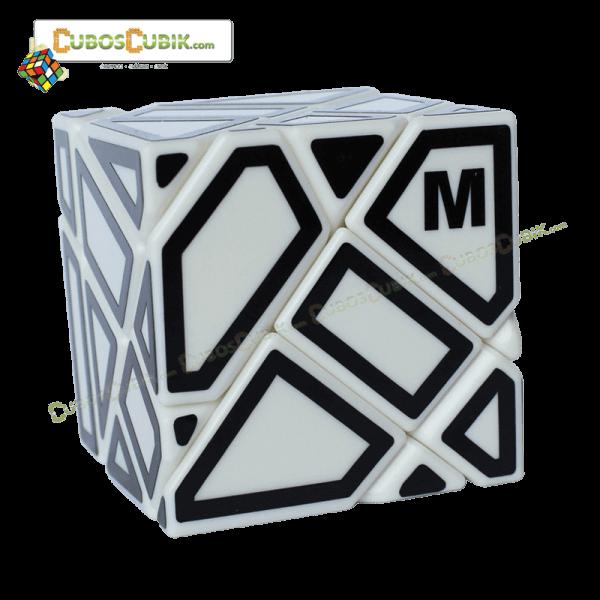 Cubos Rubik FangCun Ghost Base Blanca Contornos Negros