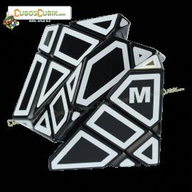Cubos Rubik FangCun Ghost Base Negro Contornos Blancos