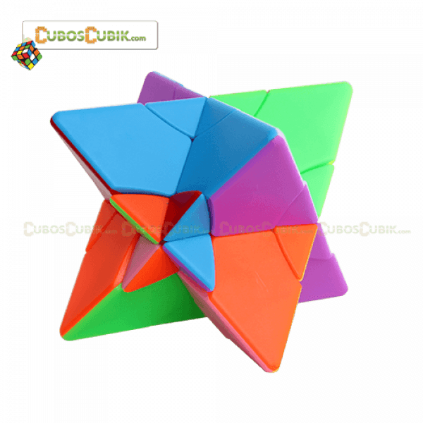 Cubos Rubik FS Lim Pyraminx 2x2 Twin Towers Colored