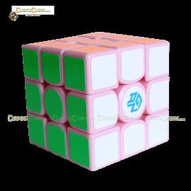 Cubo Rubik GAN 3x3 356 Air Base Rosa, Edición Especial