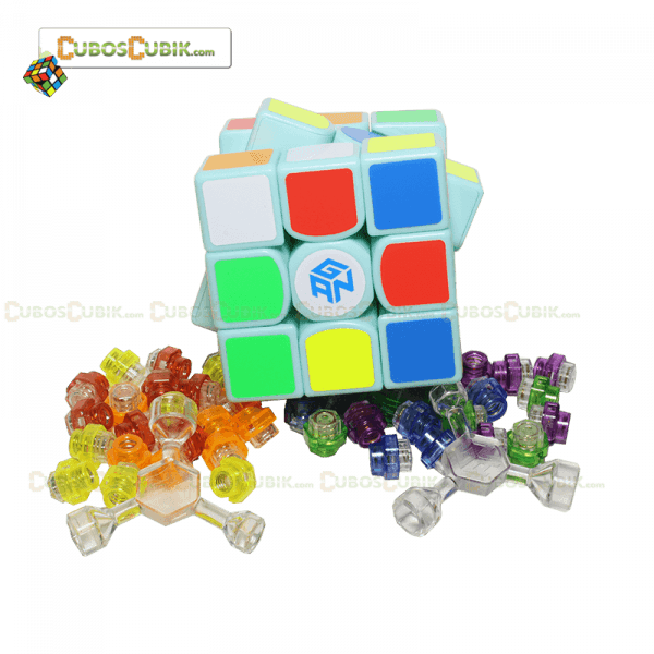 Cubo Rubik GAN 3x3 356 Air Base Verde Menta, Edición especial