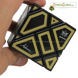 Cubos Rubik Mefferts Ghost Negro Contornos Dorados