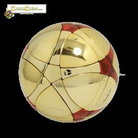 Cubos Rubik MegaMinx Ball Satinado Dorado Rojo Calvins