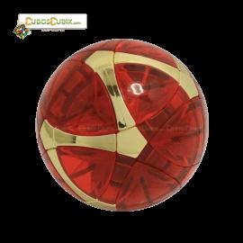 Cubos Rubik MegaMinx Ball Satinado Rojo Dorado Calvins