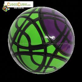 Cubos Rubik MegaMinx Ball 3 Colores Verde Base Negro Calvins