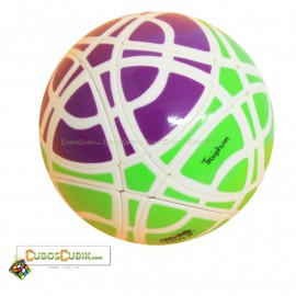Cubos Rubik MegaMinx Ball 3 Colores Verde Base Blanco Calvins