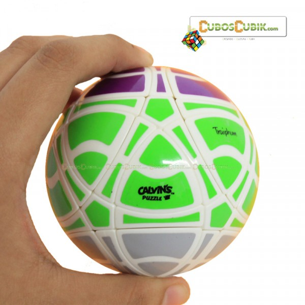 Cubos Rubik MegaMinx Ball 3 Colores Verde Base Blanco Calvins