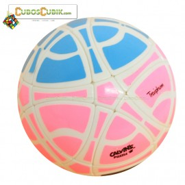 Cubos Rubik MegaMinx Ball 3 Colores Rosa Base Blanco Calvins