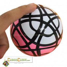 Cubos Rubik MegaMinx Ball 3 Colores Rosa Base Negro Calvins