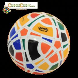 Cubos Rubik MegaMinx Ball 6 Colores Base Blanca Calvins