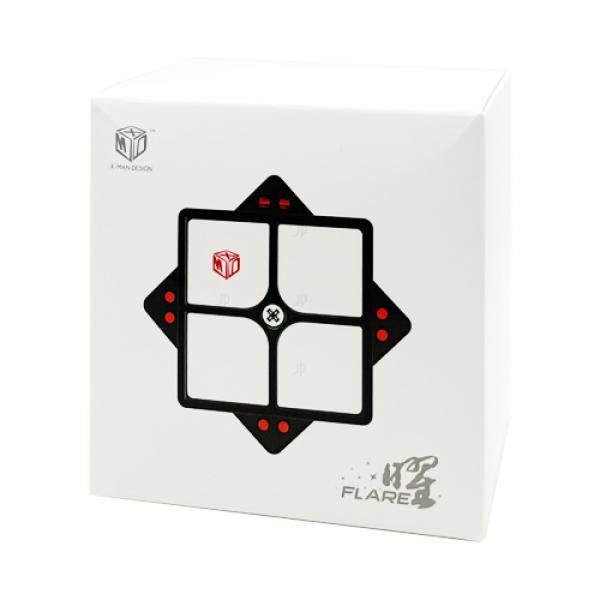 Cubos Rubik MFG Xman Flare 2x2 Magnetic Negro