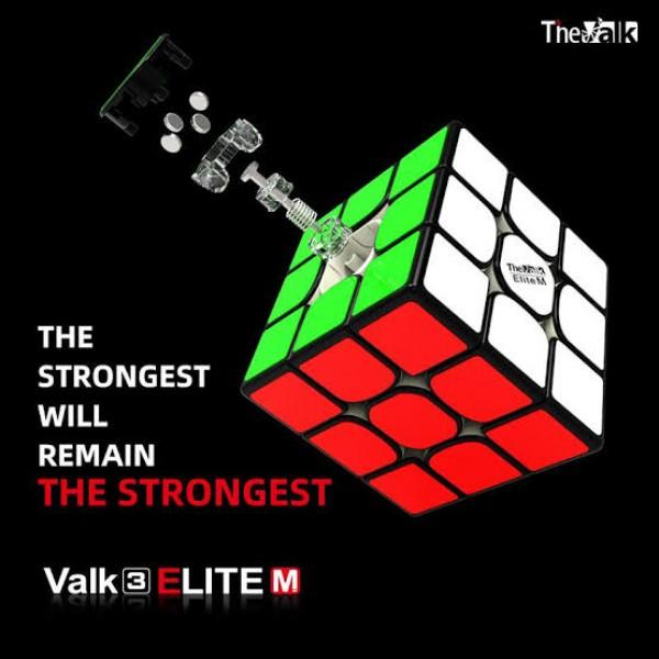 Cubo Rubik MFG 3x3 The Valk3 Elite M Negro